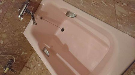 お風呂浴槽人工大理石大きなひび割れ修理完了