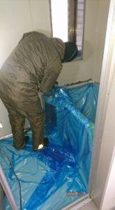 お風呂壁面サビ修理2