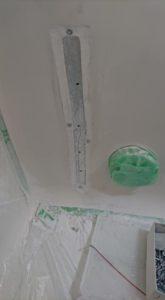 お風呂浴槽大きなひび割れ補強処理1